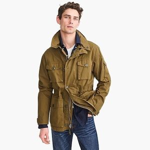 NWT J. Crew Field Mechanic Jacket in Khaki Size S